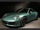 Rent-a-car Porsche 911 991 4S Racinggreen Individual Sport Chrono with its delivery to Brussels Airport, photo 1