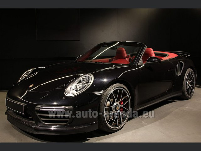 Rental Porsche 911 991 Turbo Cabrio LED Carbon Sitzbelüftung in Belgium