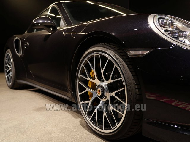 Rental Porsche 911 991 Turbo S Ceramic LED Sport Chrono Package in Liege