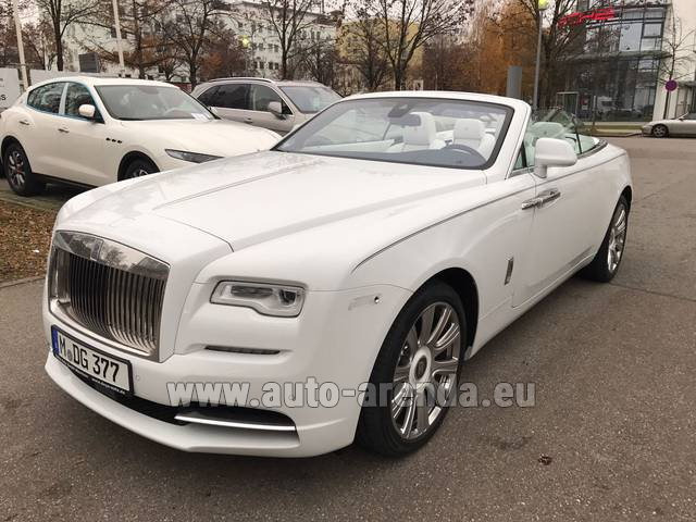 Hire and delivery to Brussels Airport the car Rolls-Royce Dawn
